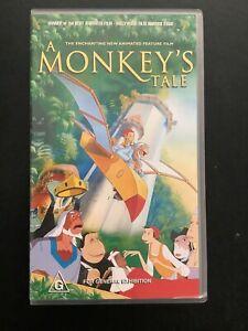 Vhs Video A Monkeys Tale Animated Vhs Video