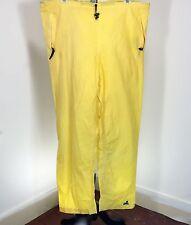 EMS Unisex Waterproof Pants XL Yellow Drawstring Pockets Hike Camping Emergency