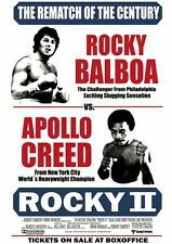 Stampa incorniciata - 2 Rocky Balboa VS. CREED (PICTURE POSTER FILM BLU-RAY FILM ART)