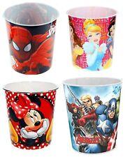 Kids Disney Marvel Waste Rubbish Bin Plastic Girls Boys Bedroom Nursery New