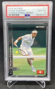 2003 Netpro International #11 Roger Federer Rookie Card RC PSA 10 Gem Mint GOAT
