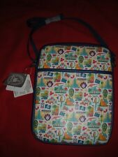 DISNEY PARKS IPAD TABLET CASE CROSSBODY PADDED BAG STRAP TOP ZIP CLOSURE NEW W/T