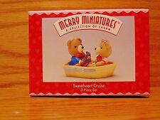 New Hallmark Merry Miniatures Sweetheart Cruise Bears Love Valentines Day boat