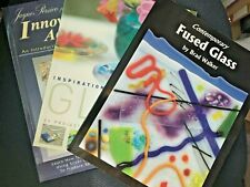 Glass fusing books joblot bundle some rare Brad Walker Contemporary fused glass