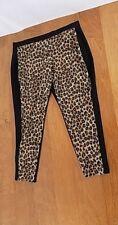 Women Chico's Animal Print Yoga Style pants Sz 3 / 16 Super Stretch Pull-on