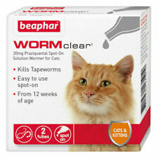 Beaphar WORMclear for Cats Worming Spot-On Solution x 2