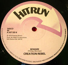 "Creation Rebel Beware 12"" ORIG 1979 Roots/Dub Hitrun Natty Conscience Free VINYL"