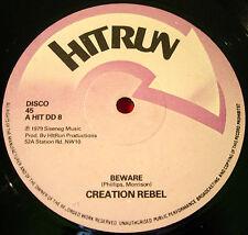 "Creation Rebel Beware 12"" ORIG 1979 Roots/Dub Hitrun Natty Conscience Free VINYL"