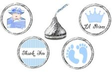 216 (54 ea of 4) LITTLE PRINCE Crown BABY SHOWER Kisses Kiss Label Sticker Favor