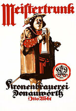 Art Ad  Meiftertrunk German Monk Beer Drink Pub Bar   Poster Print