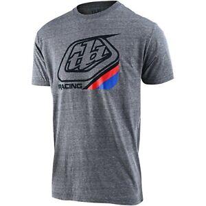 Troy Lee Designs T-Shirt TLD Motocross Mx Bmx Mtb Dh Gear Precision 2.0 Gray