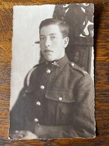 MACHINE GUN CORPS SOLDIER.  VINTAGE WW1 REAL PHOTO POSTCARD