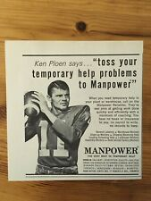 1966 CANADIAN FOOTBALL  LEAGUE AD CFL KEN PLOEN WINNIPEG BLUE BOMBERS
