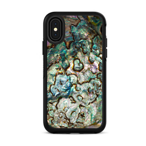Skins for iPhone X Otterbox Defender Stickers - Abalone Shell Gold underwater