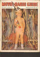 DEC 28 1940 MOVIE RADIO GUIDE vintage movie magazine BABY NEW YEAR