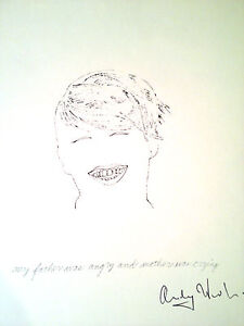 """Andy Warhol  Hand Signed Heliolithograph """"Gold Book"""" 1955"""