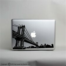 Brooklyn Bridge skyline macbook laptop skin vinyl decal, New York City Manhattan