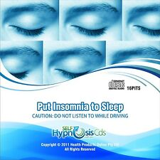 Insomnia Sleep Hypnosis CD - Sleep Aid Self Help NLP Hypnotherapy Sound Audio