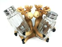 Woodland Creek Kissing Moose Salt and Pepper Shaker Set Mountain Woods Kiss NEW