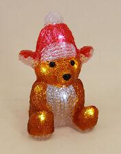 Dekobote, Acryl Rentier H 19 cm BELEUCHTET 10 LED Licht Weihnachten