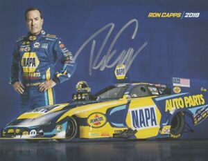 2019 Ron Capps signed Napa Auto Parts Dodge Charger Funny Car NHRA Hero Card