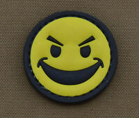 """PVC / Rubber Patch """"Badass Smile"""" with VELCRO® brand hook"""