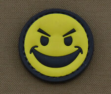 "PVC / Rubber Patch ""Badass Smile"" with VELCRO® brand hook"
