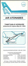 Air Atonabee system timetable 5/30/82 [7072] Buy 2 Get 1 Free