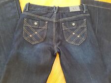 AS NEW - WOMEN'S - AX ARMANI EXCHANGE BOOT LEG Blue Denim Jeans - Size 2 (AUS8)