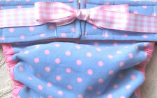 NEW! LULIBOOS DESIGNER DOG PANTY BRITCHES DIAPER CORDUROY - BABY BLUE WITH PINK