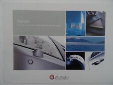 Vauxhall Signum Design 2.2i 16V Leasing Offer/ Choices Offer brochure 2004