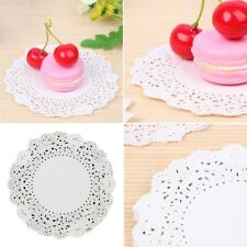 180Pcs Lace Paper Round Mats Coasters Placemats Wedding Events Party Table Gift