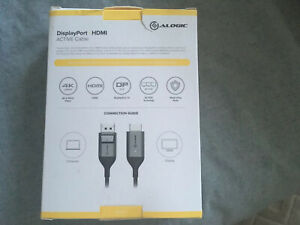 2m Alogic Display Port HDMI Active Cable 4k 60 Hz
