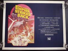 "Original* 1980  Star Wars Empire Strikes Back Poster 22 x 28"" Movie ESB hf sheet"