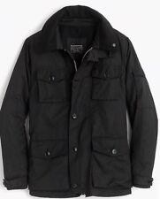 NEW JCREW $368 Nylon-cotton field mechanic jacket SizeM F4512 In Black