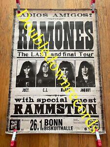 VTG Ramones Final Tour Concert Poster 1996  Punk Clash ORIG Rammstein Germany