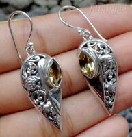Gemstone Solid Silver, 925  Bali Handcrafted Turtle Design Earring 30749