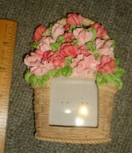 Russ Berrie GREENHOUSE BLOOMS Mini Picture frame Basket of Flowers of the Month