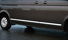CHROME SIDE DOOR Streamer Trim Set copre ACCENTS-VW VOLKSWAGEN T5 TRANSPORTER