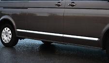 CHROME SIDE DOOR STREAMER TRIM SET COVERS ACCENTS - VW VOLKSWAGEN T5 TRANSPORTER