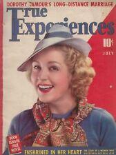 True Experiences - 1939