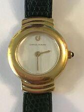 ❤️$1295 Authentic CHARLES JOURDAN Paris Quartz GP Watch Qurtz 22mm Not Working❤️