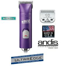 Andis PURPLE SUPER PRO 2-Speed Clipper SET&10 ULTRAEDGE Blade*PET HORSE Grooming