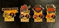 Denver Broncos Set of 1st 4 NFL Super Bowl Starline Collector Pins Vintage, Rare