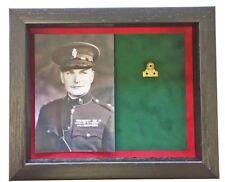 More details for medium ruc medal display case with photograph for 1 medal. black frame