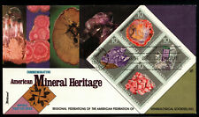U.S. 1974 - MINERALS (Block of 4 on FDC) lot 12