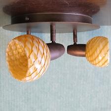 3 Light Spotlight Plate Modern Home Light in Antique Brass Clearance Litecraft