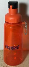 PayPal Pay Pal Clear Orange Travel Drinking Drink Water Sports Bottle 34 oz
