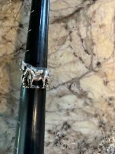 Vintage Sterling Silver Jewelry Ring Horse Size 7 Horses Equestrian Antique