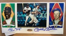 Mickey Mantle Willie Mays signed autographed 4x8 photo COA